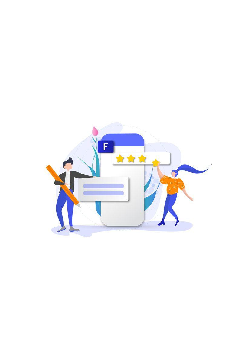 Evaluate app Illustration