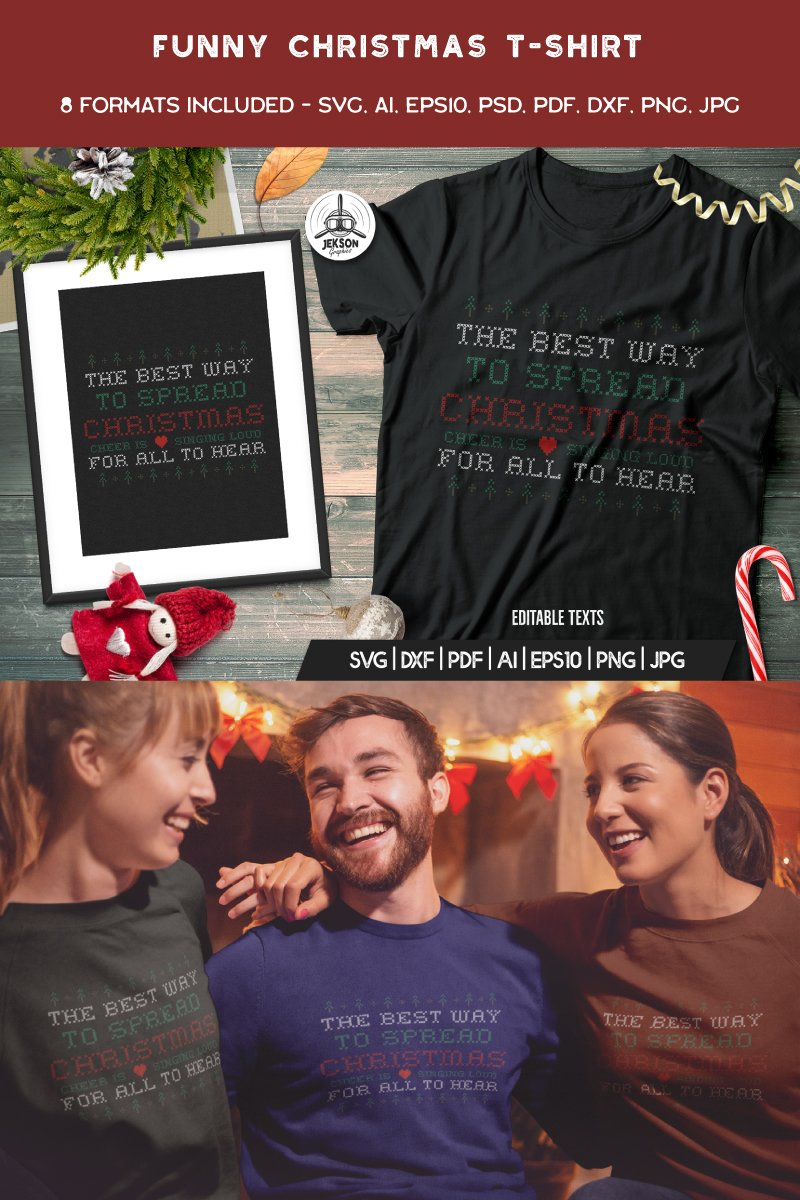 Funny Ugly Christmas Design T-shirt - screenshot