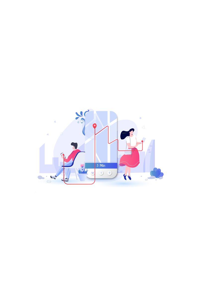 """Ilustración """"Distance"""" #90990"""