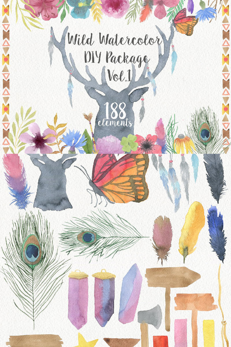 "Ilustración ""Wild Watercolor DIY"" #90966"