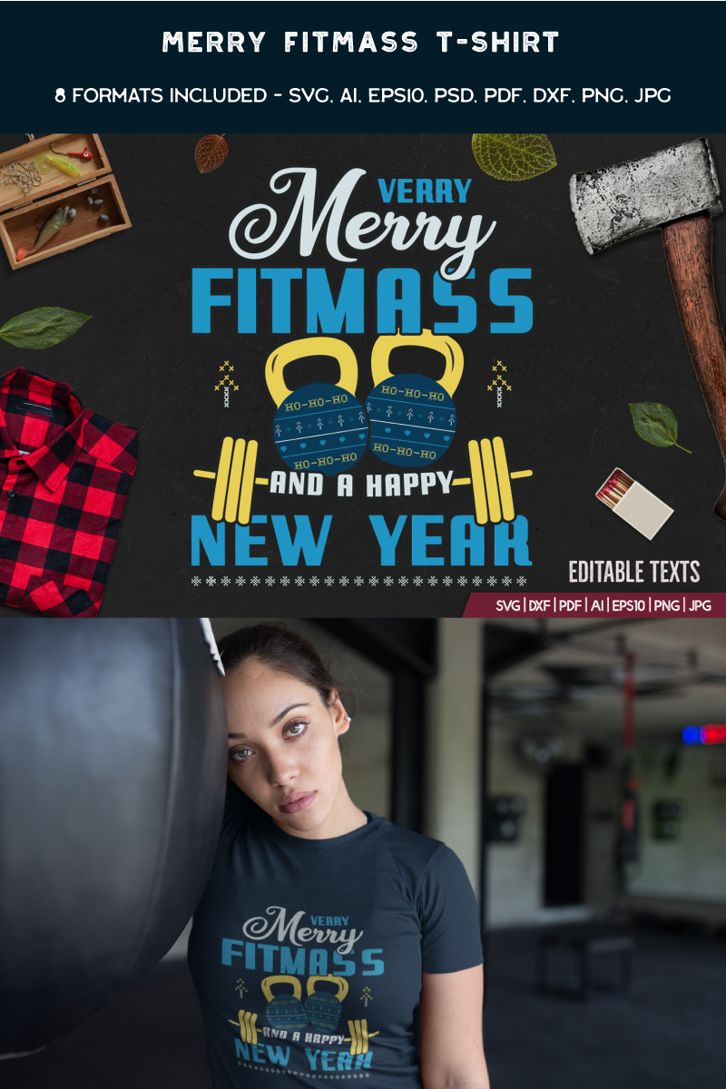 Merry Fitmass and Happy New Year T-shirt