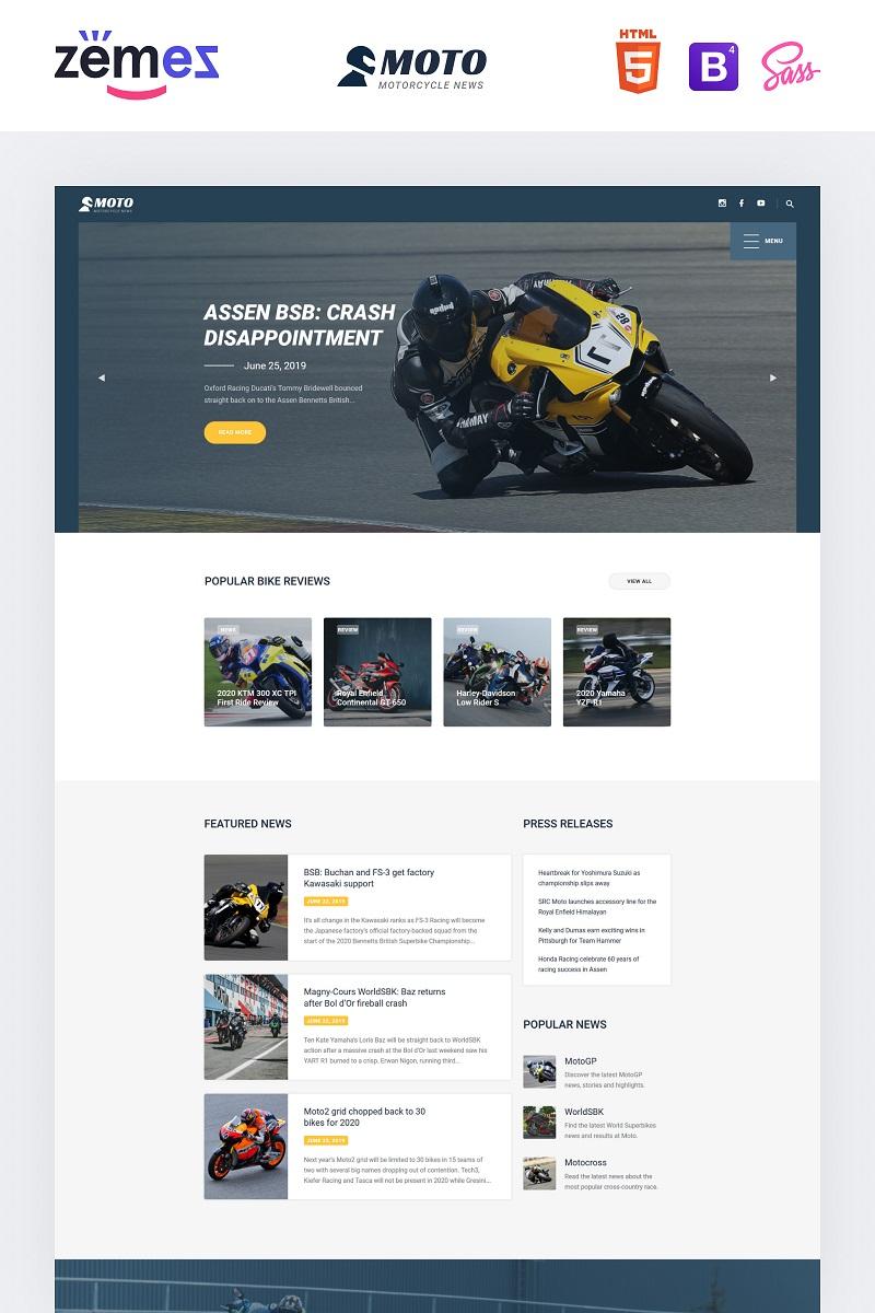 MOTO - Motorcycle Sports Website Template - screenshot