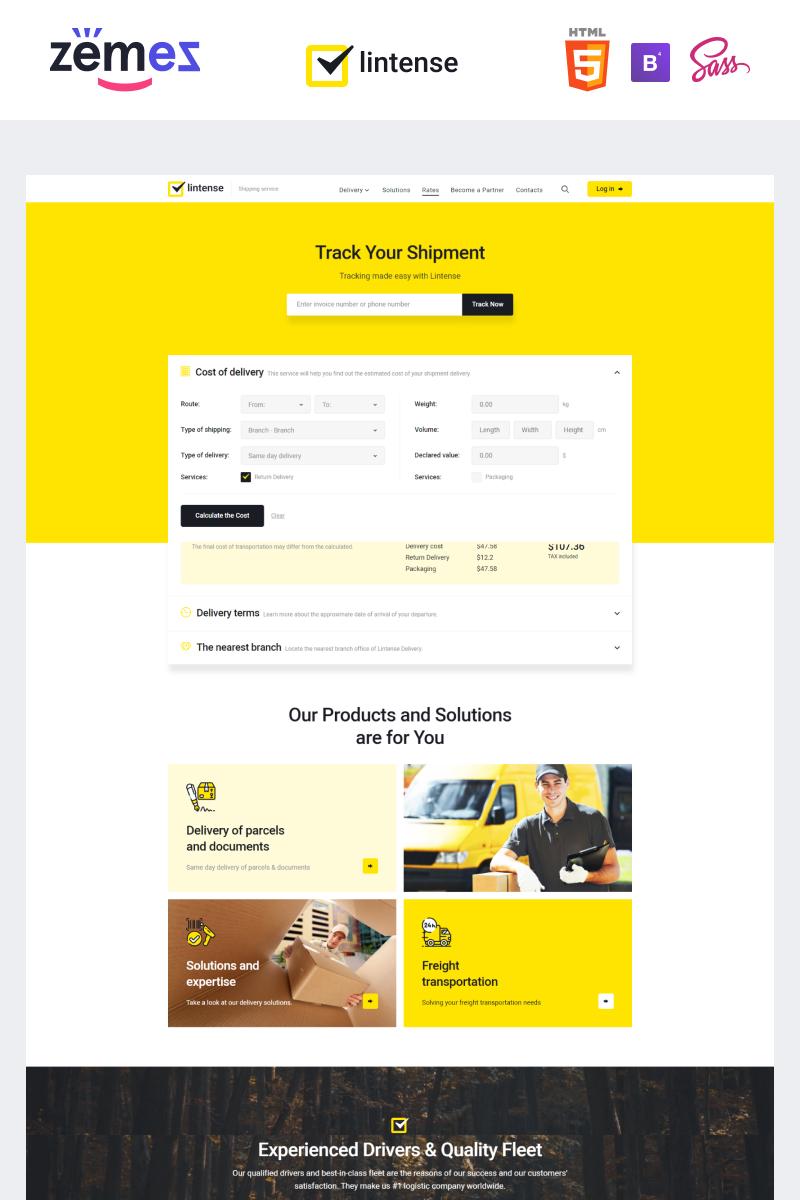 Reszponzív Lintense Transportation - Logistics Company Nyítóoldal sablon 90995
