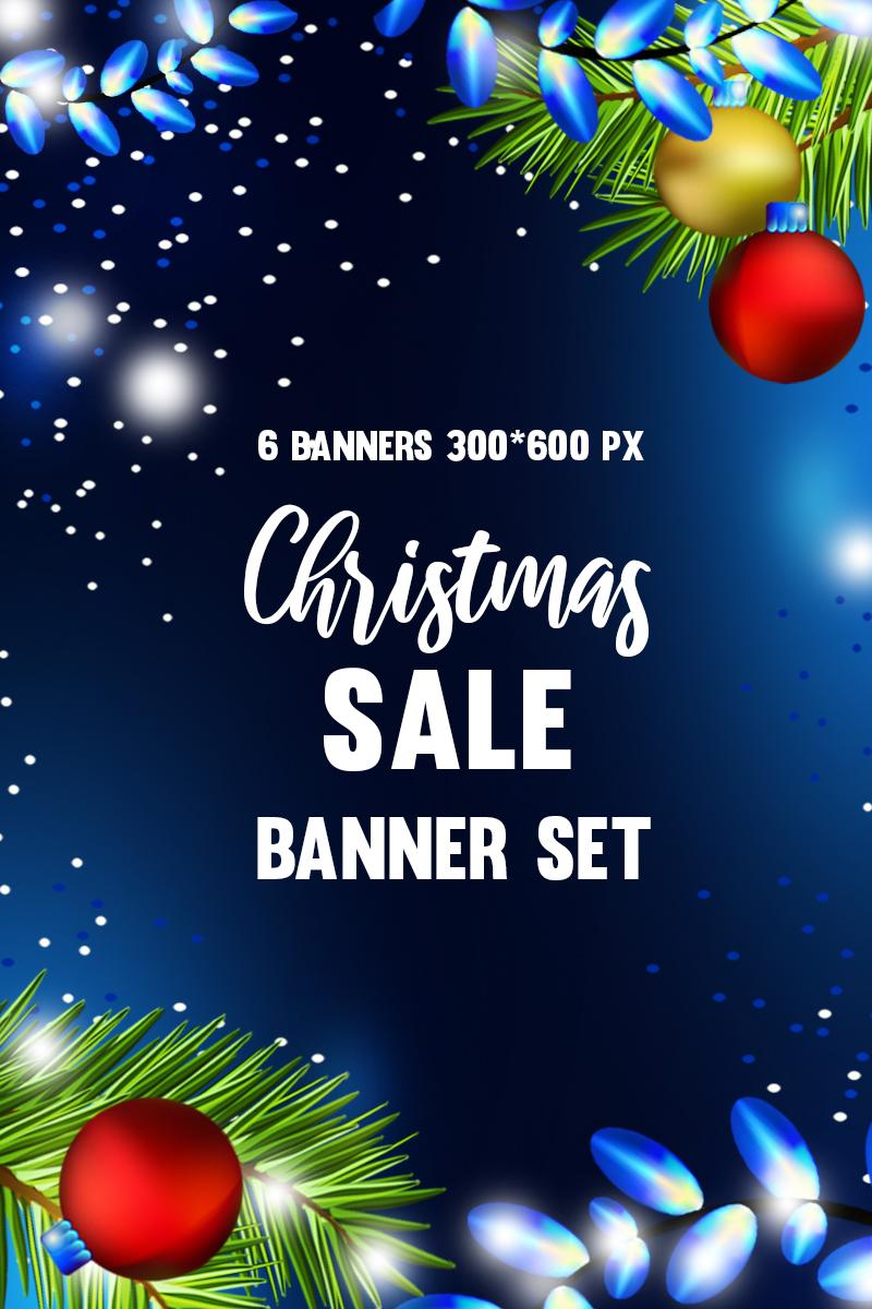 """Šablona firemního stylu """"Set of 6 web banners for christmas sale."""" #90923"""