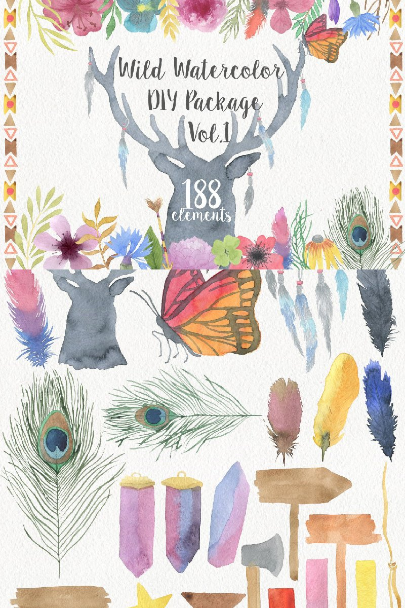 "Tema Illustrazione #90966 ""Wild Watercolor DIY"""