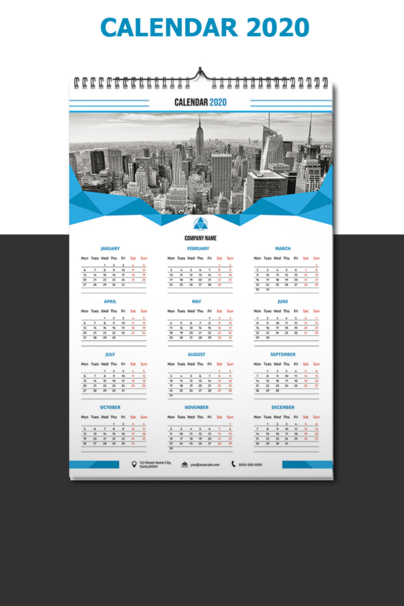 """Wall Calendar 2020"" Planner №90919 - screenshot"