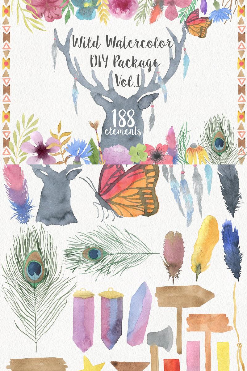 Wild Watercolor DIY Açıklamalar #90966