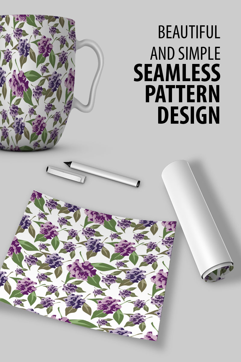 """Beautiful seamless floral design"" pattern  #91023"