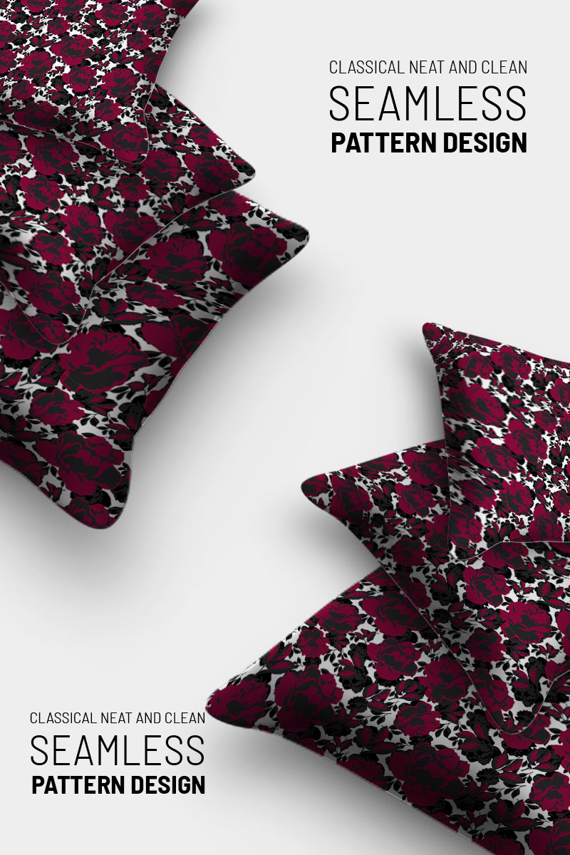 """Classic simple floral repeat design"" pattern  #91019"