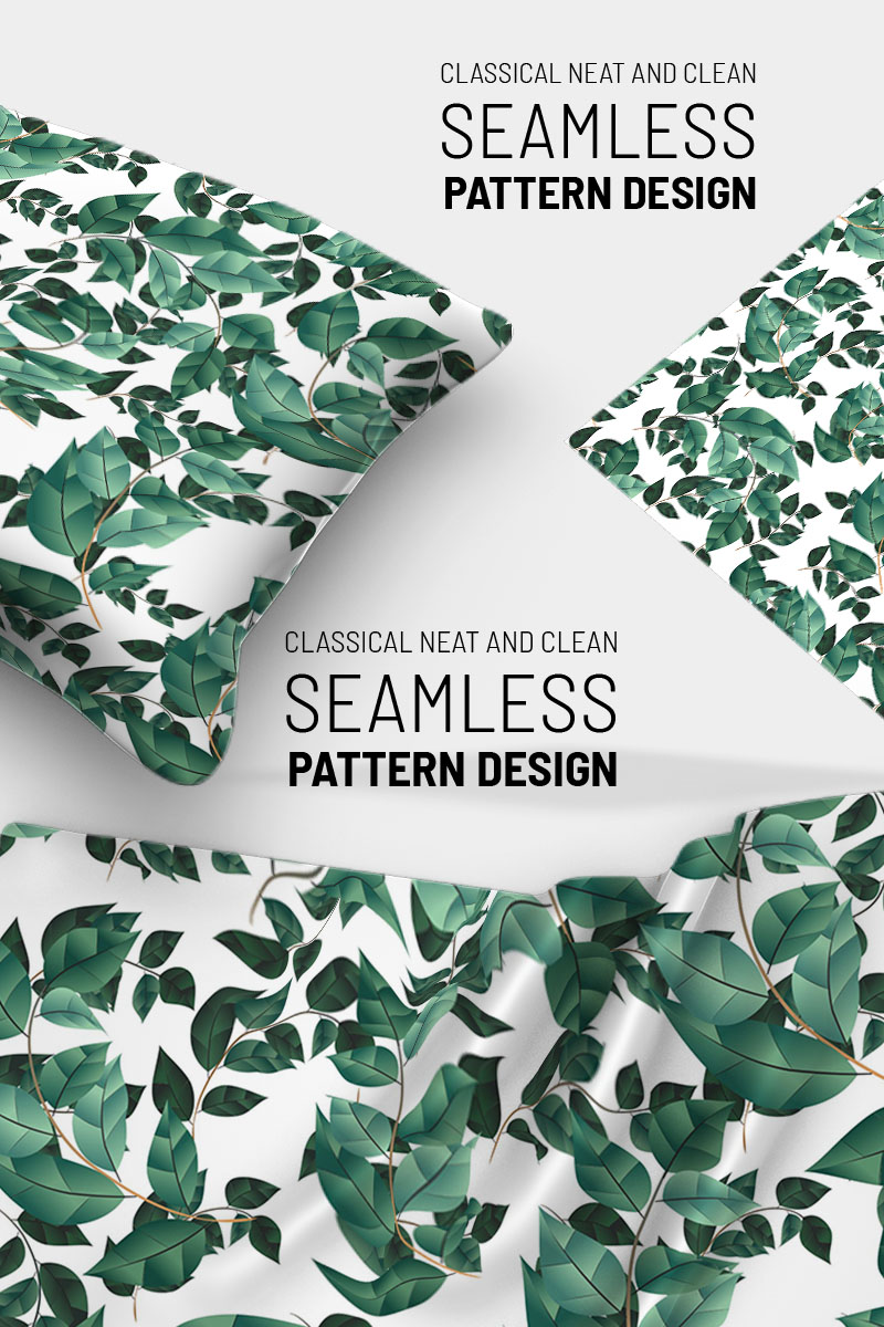 Floral branches with repeat design Pattern №91037