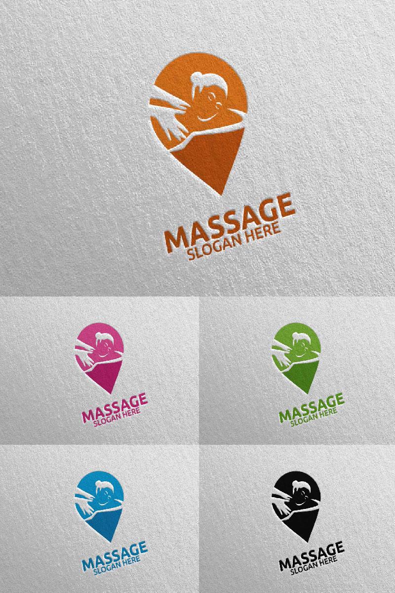 Massage Design  10 Unika logotyp mall #91044