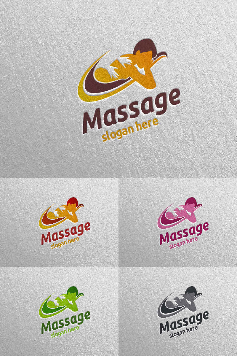 Massage Design 2 Template de Logotipo №91055