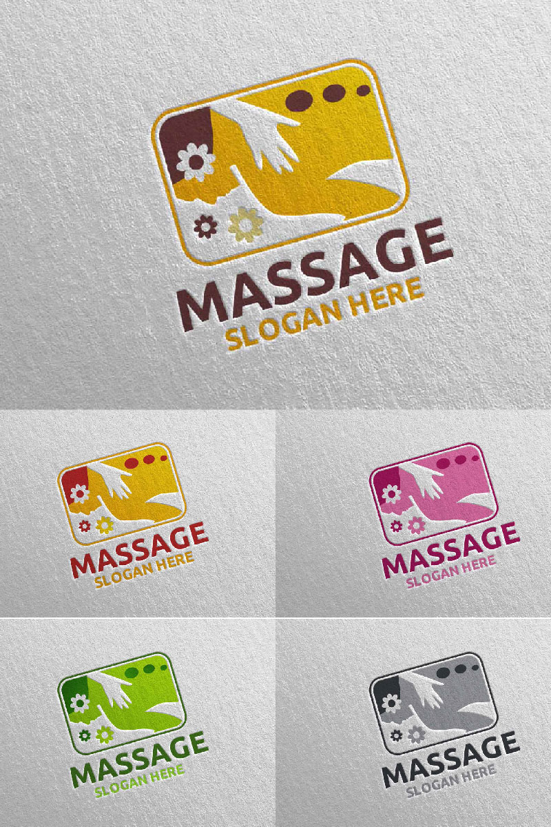 Massage Design 3 Template de Logotipo №91054