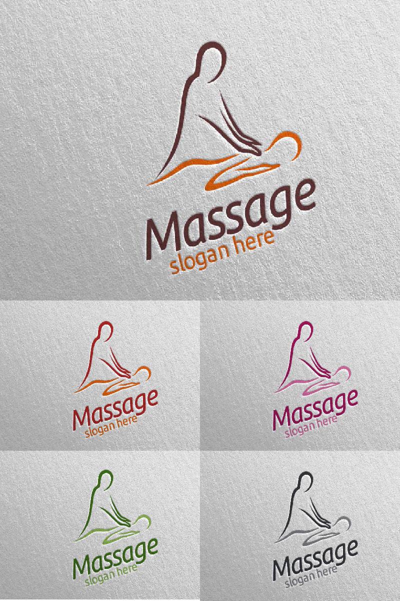 Massage Design 4 Unika logotyp mall #91053