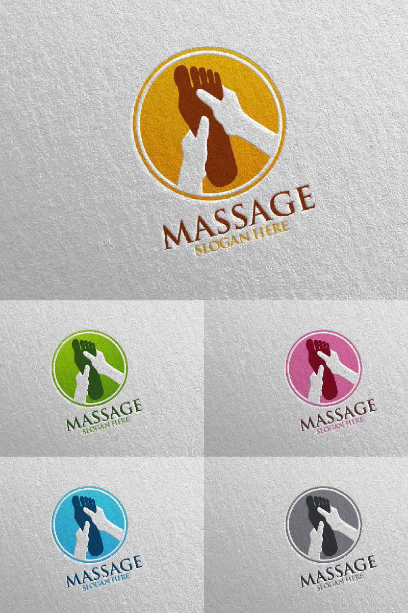 Massage Design 5 Template de Logotipo №91052