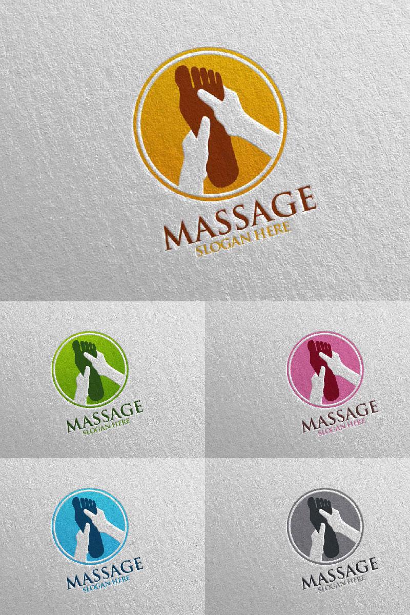 Massage Design 5 Unika logotyp mall #91052