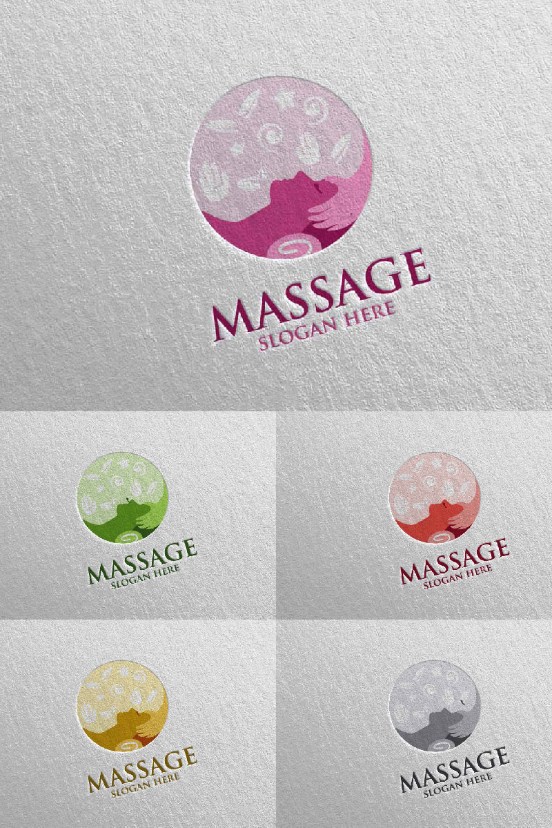 Massage Design 6 Template de Logotipo №91049