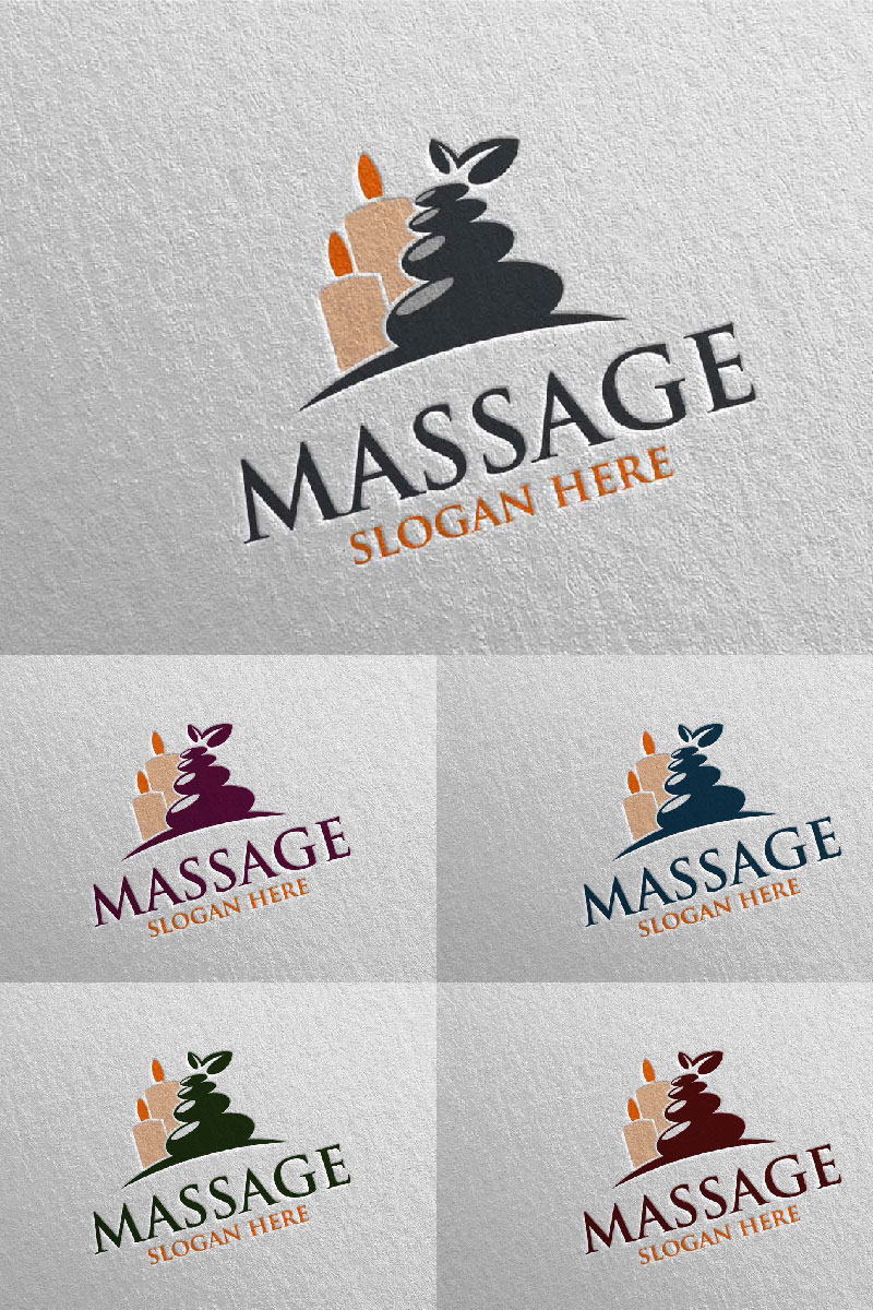 Massage Design 7 Template de Logotipo №91048
