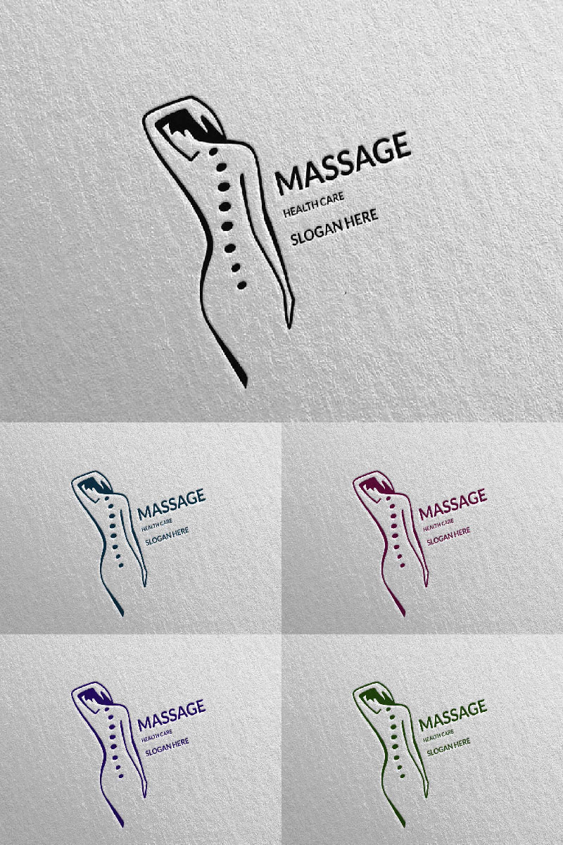 Massage Design 8 Template de Logotipo №91047