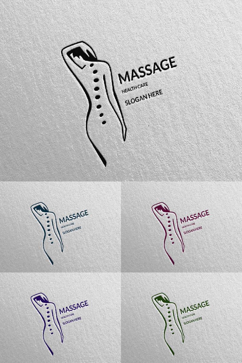 Massage Design 8 Unika logotyp mall #91047