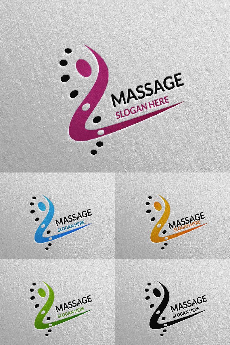 Massage Design  9 Unika logotyp mall #91045