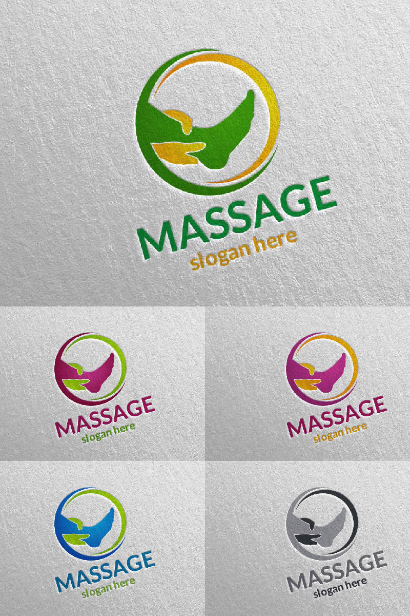 Massage Design Template de Logotipo №91056