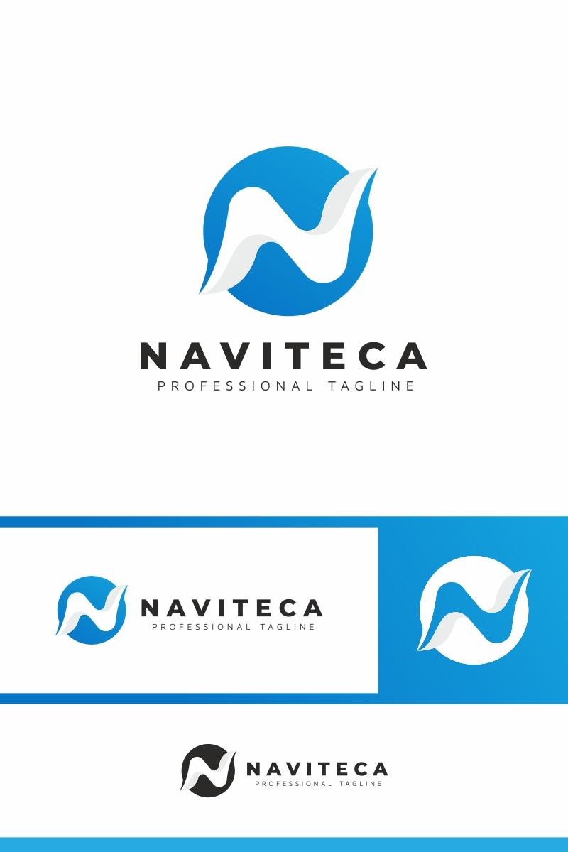 Naviteca / N Letter Unika logotyp mall #91046