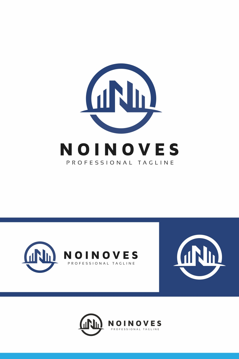 Noinoves N Letter Template de Logotipo №91051