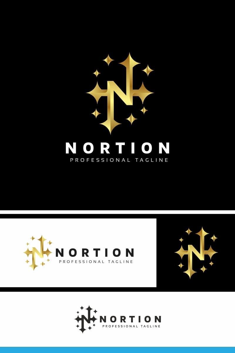 Nortion N Letter Unika logotyp mall #91050