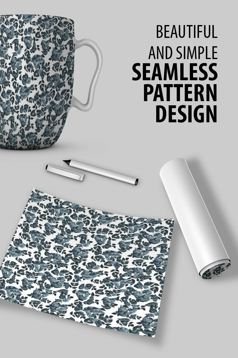 "Pattern namens ""Floral seamless tiny branches with leaves"" #91035"