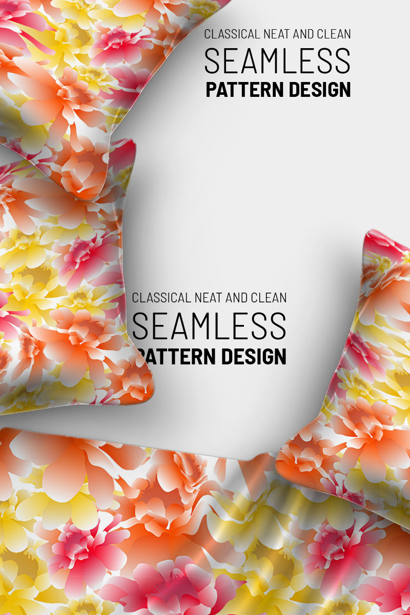 """Pattern """"Seamless colorful beautiful floral design"""" #91027"""