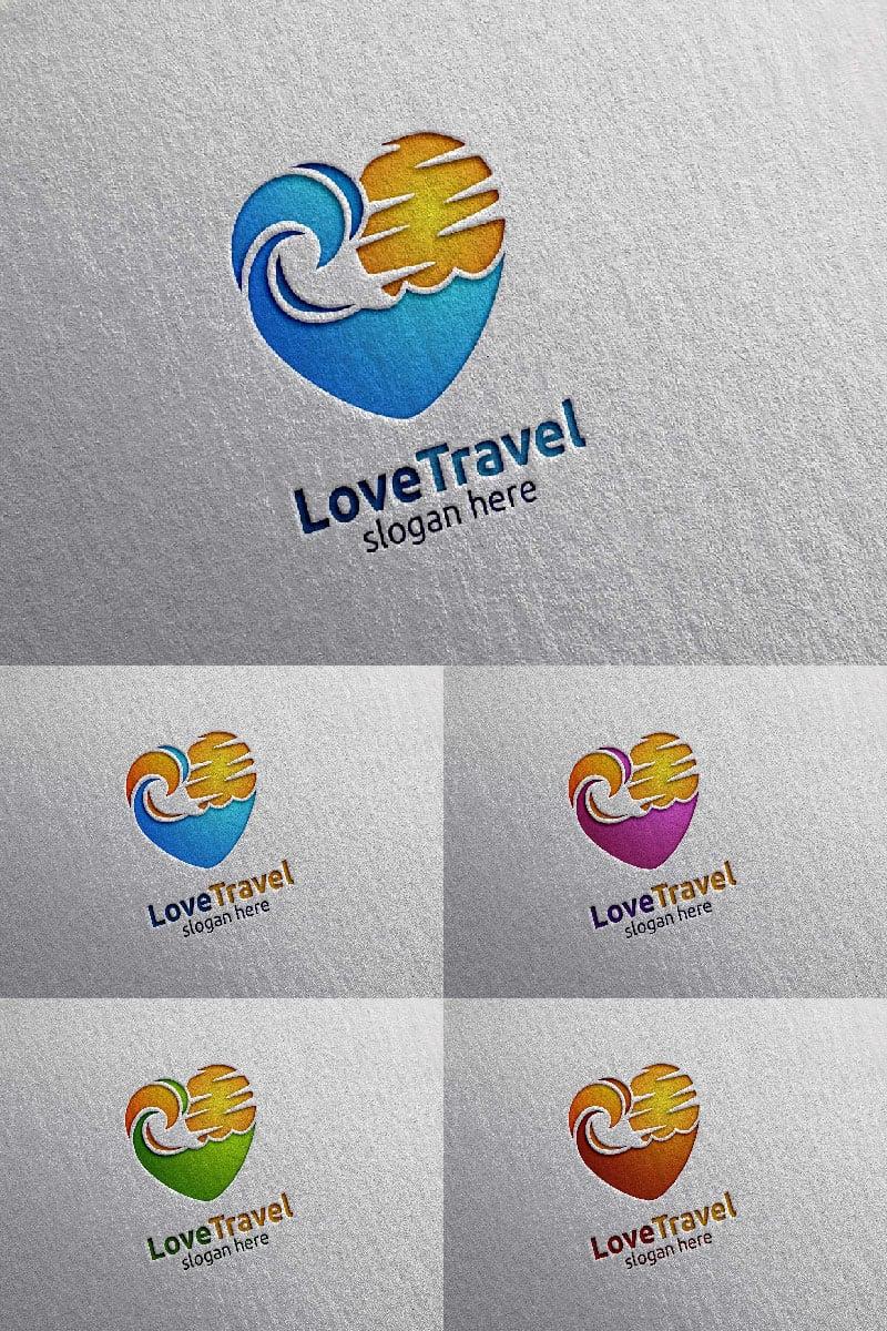 """Plantilla De Logotipo """"Travel with Love 2"""" #91060"""