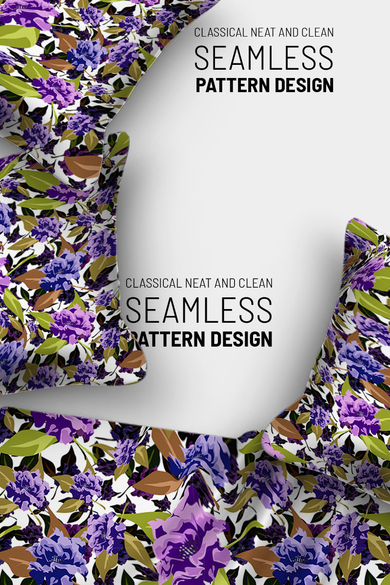 """Repeat design floral beautiful"" pattern  #91022"