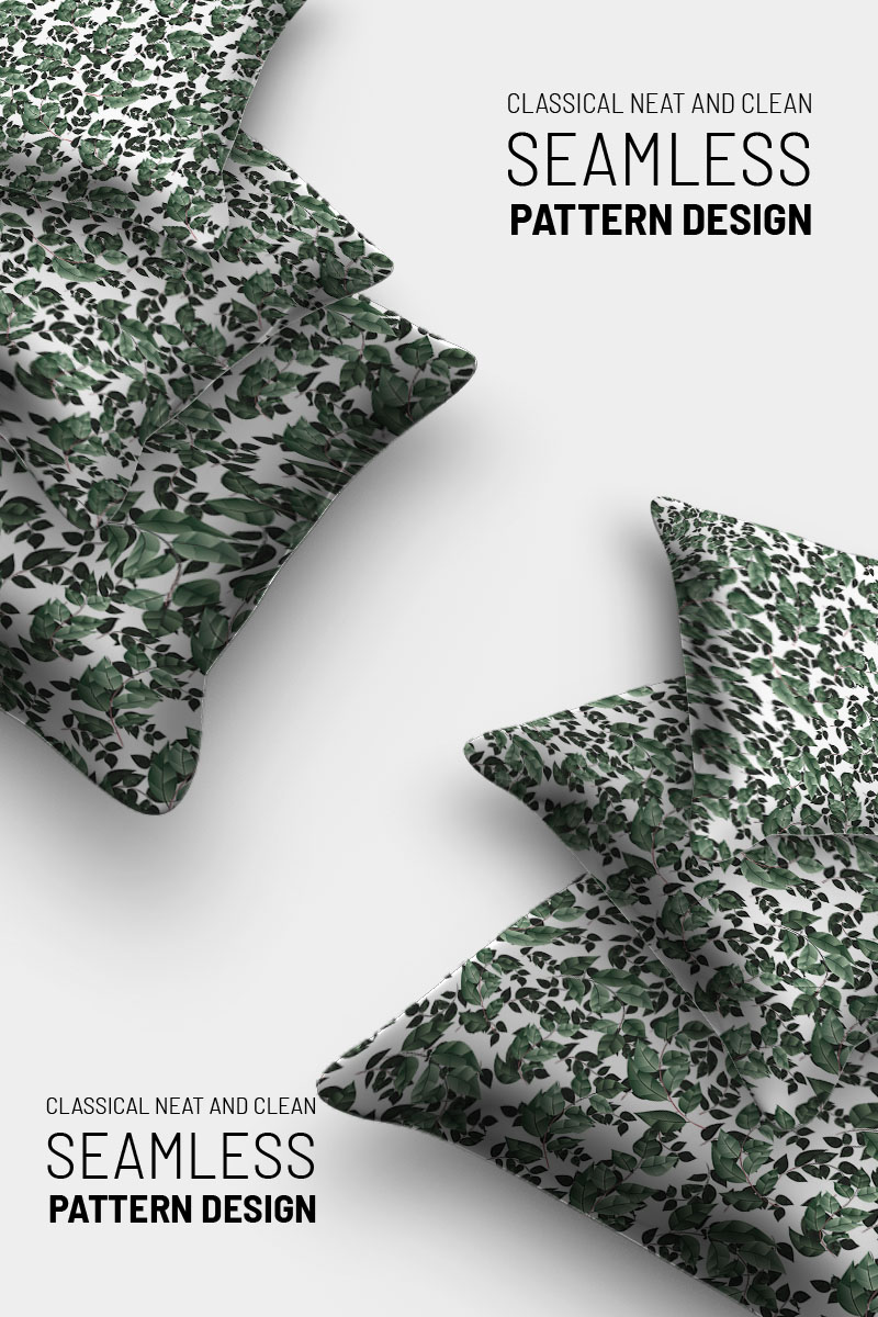 Tiny leaves and branches design Pattern №91036