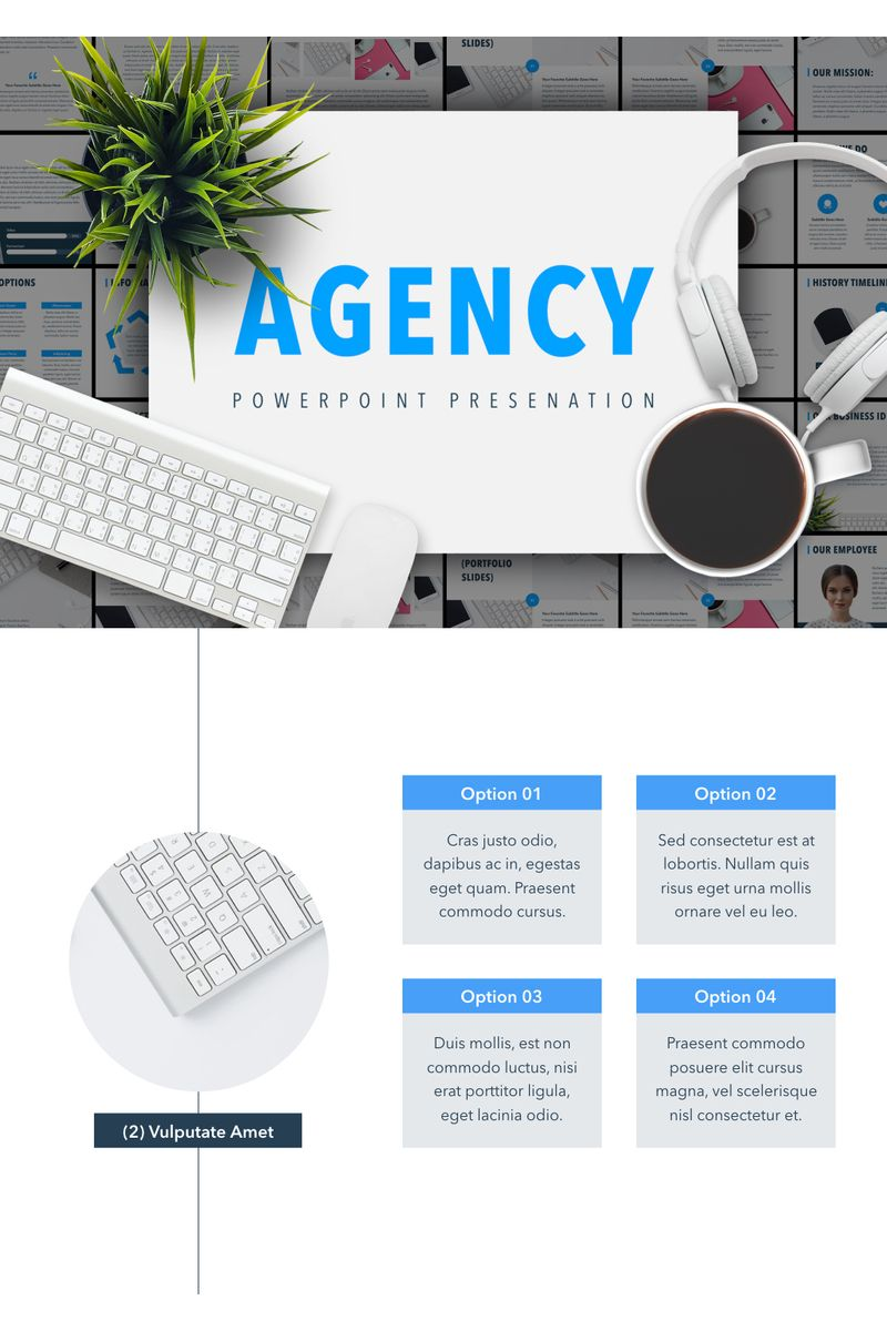 """""""Agency Showcase"""" PowerPoint Template №91186"""