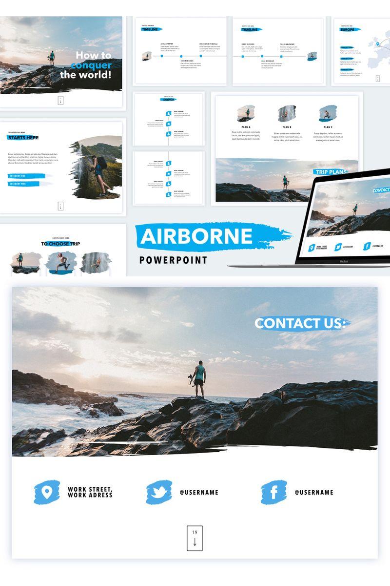 """Airborne"" PowerPoint Template №91185"
