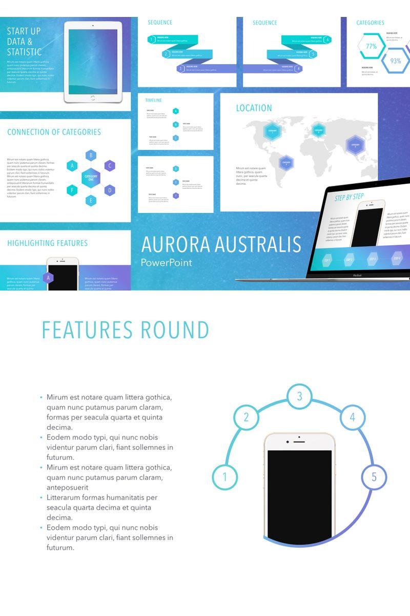"""Aurora Australis"" PowerPoint Template №91184"