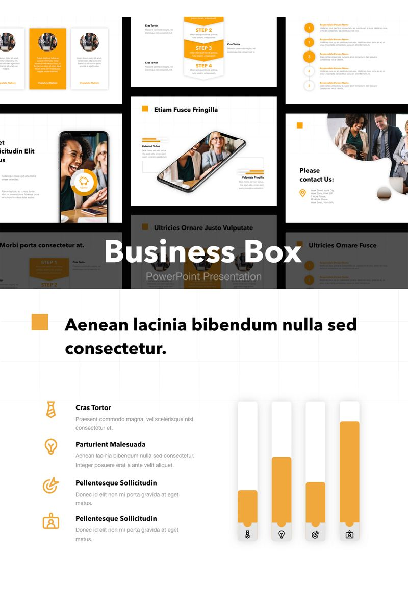 """Business Box"" PowerPoint Template №91179"