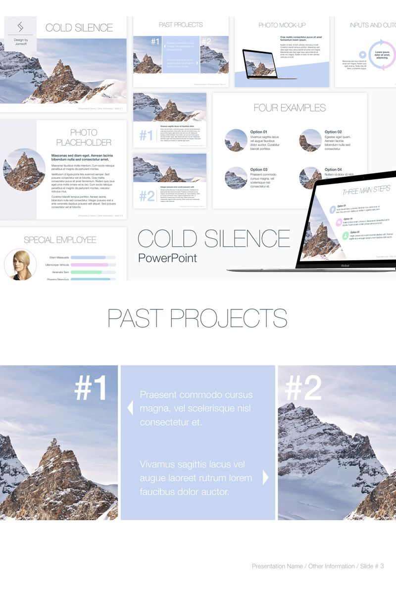"""Cold Silence"" PowerPoint Template №91177"