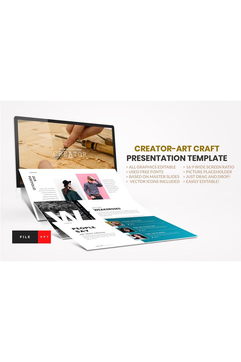 """""""Creator-Art Craft"""" PowerPoint Template №91115"""