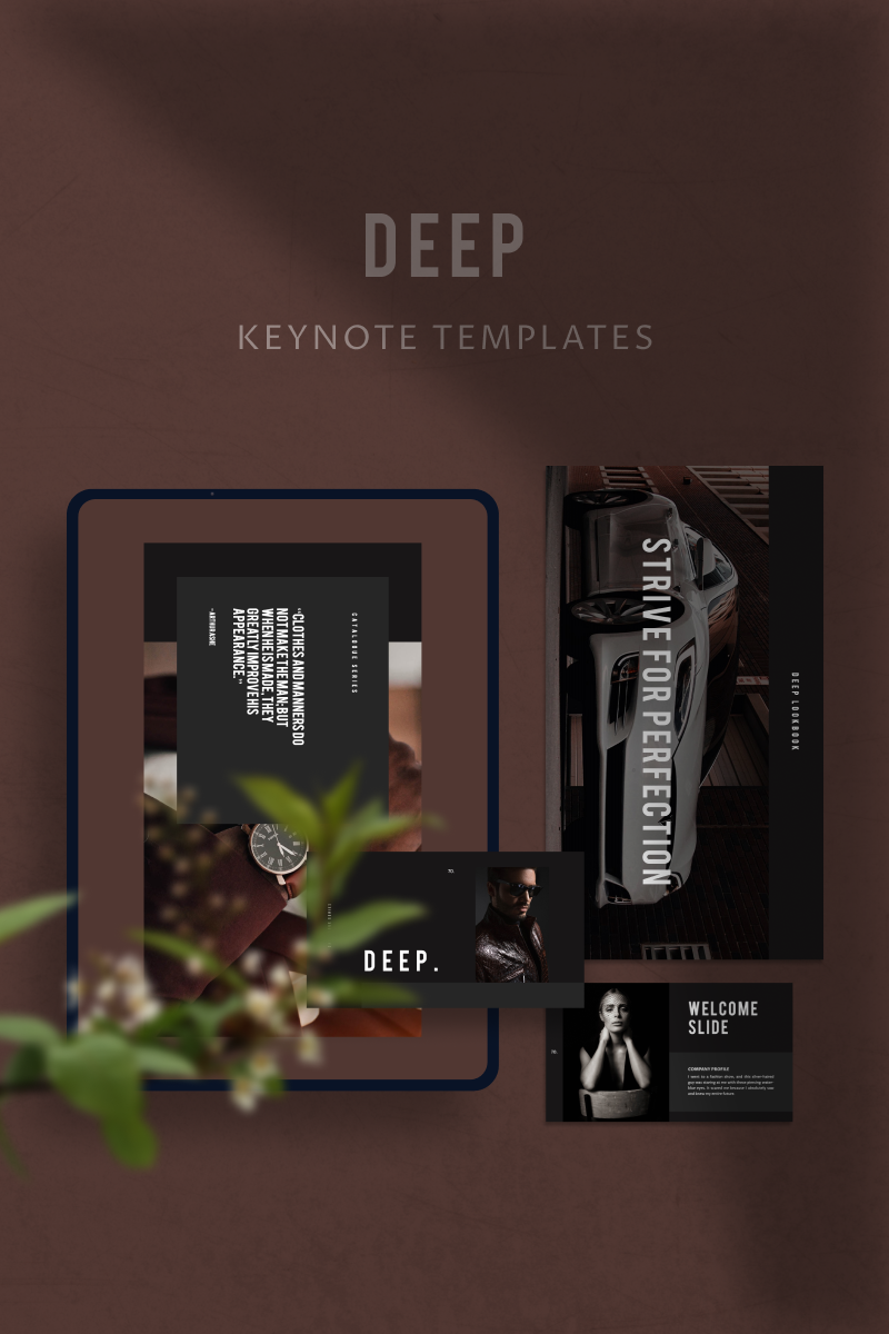 """""""DEEP"""" Keynote Template №91153"""
