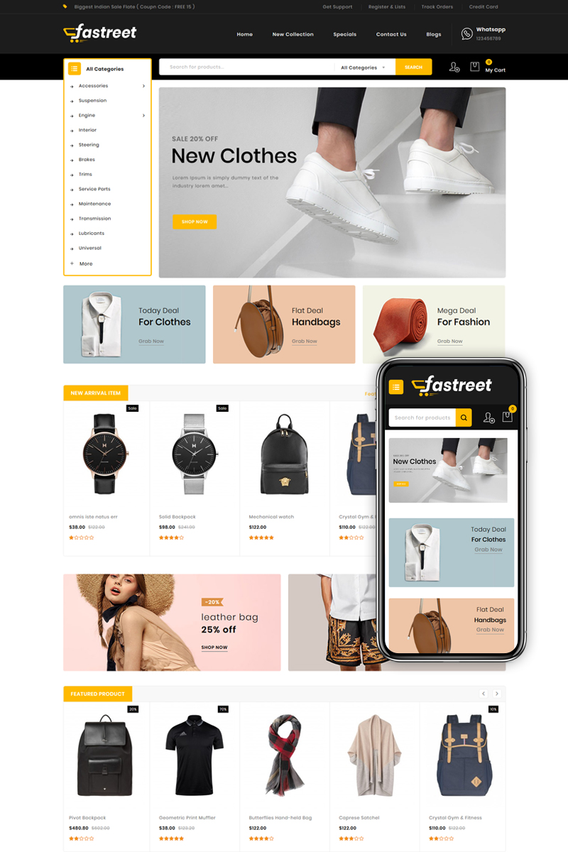 Fastreet - Multipurpose OpenCart Template - screenshot