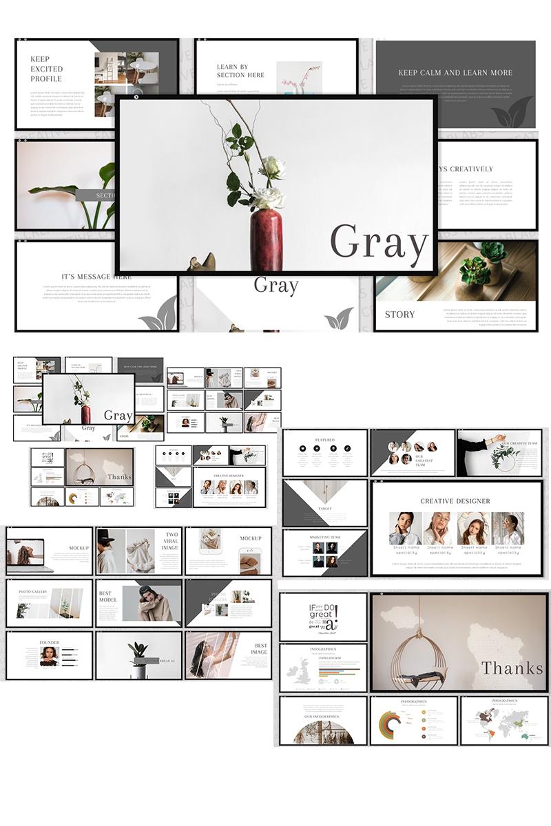 """Gray"" Responsive Keynote Template №91144"