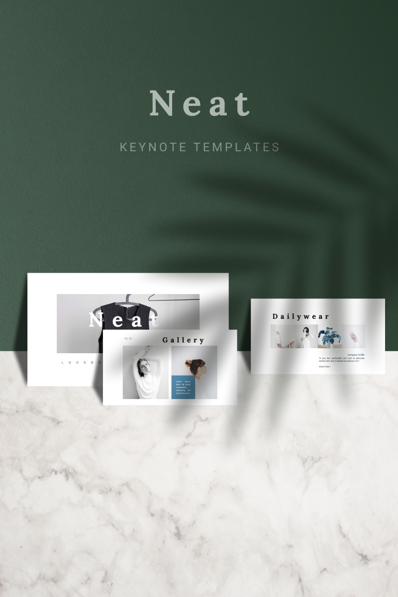 """NEAT"" Keynote Template №91148"