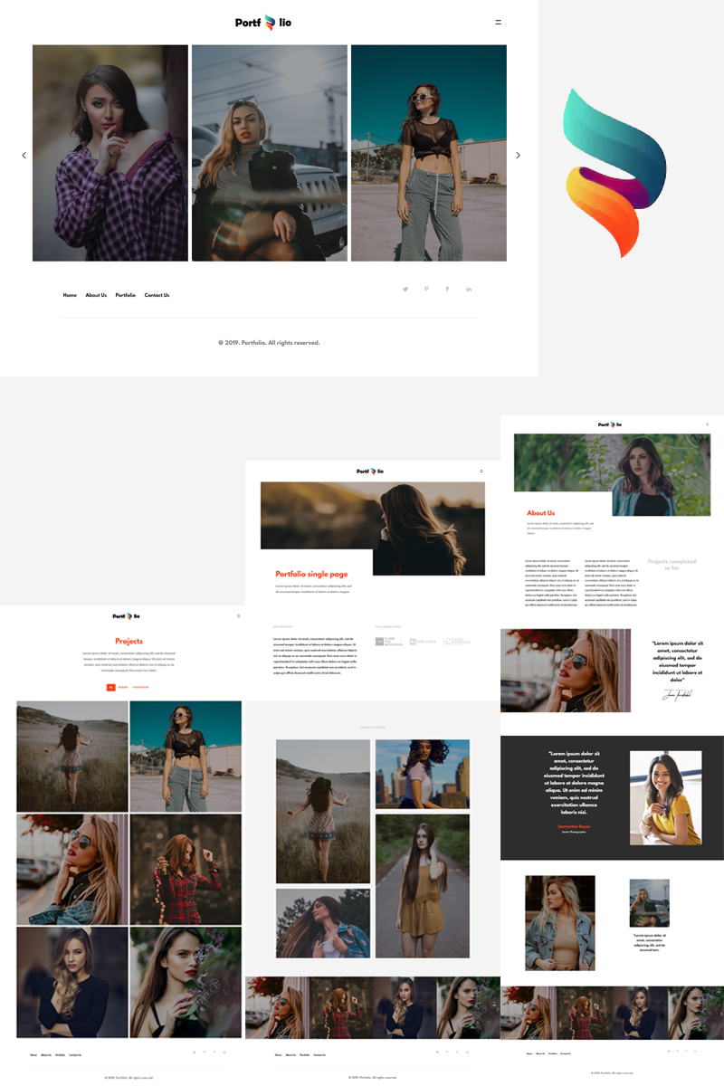 """Portfolio - Bootstrap"" Bootstrap Website template №91111"