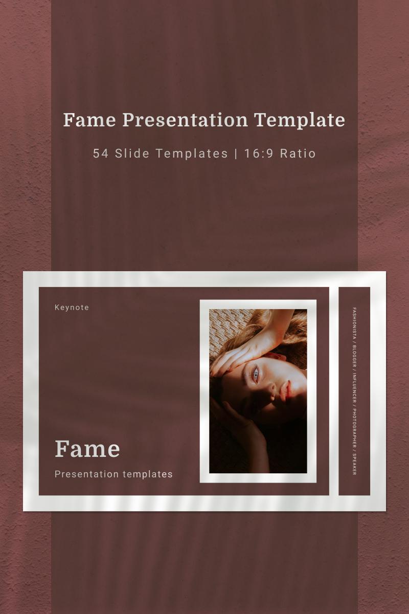 """Šablona pro Keynote """"FAME"""" #91136"""