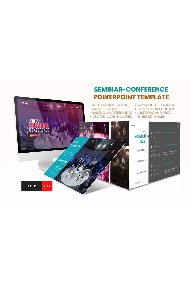 Seminar-Conference PowerPoint sablon 91174