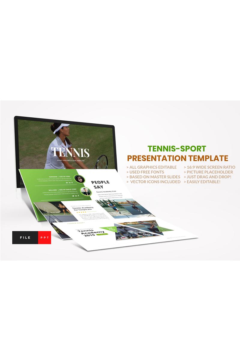 Tennis-Sport PowerPoint sablon 91119