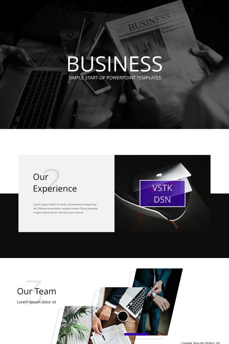 VSTK DSN Business Presentation PowerPoint sablon 91134