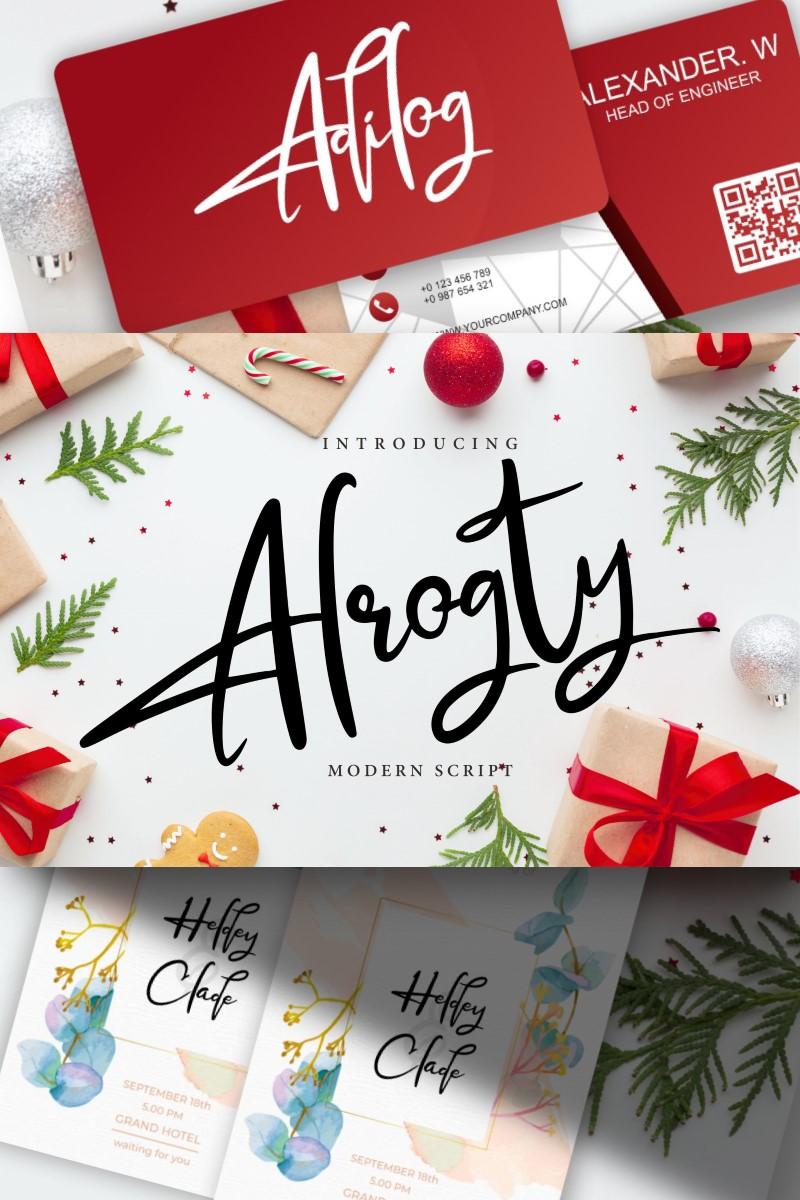 """Alrogty | Modern Script"" police de caractère  #91221"
